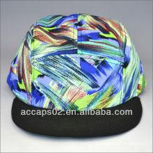 Chapéu de snapback de cinta de couro