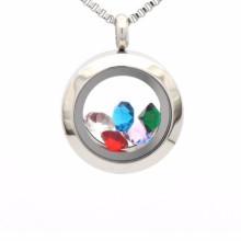 Мода водонепроницаемый стерлингового серебра с плавающей медальон кулон ювелирные изделия