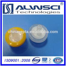 Filtres à seringue de 13 mm Taille de pores hydrophiles PTFE 0.22um en usine chinoise