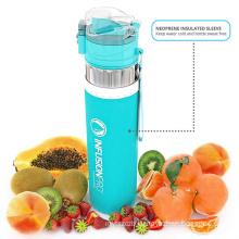 BPA free high quality Water Infuser & ndash 24 Oz Fruit Infused Water Bottle Teal