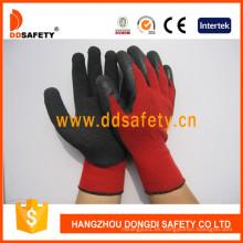 Guantes de seguridad de guantes de látex de algodón rojo Dkl811
