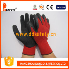 Red Cotton Latex Coating Glove Safety Gloves Dkl811