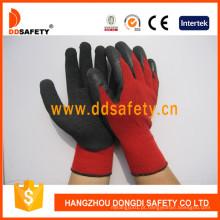 Luvas de segurança de luva de revestimento de látex de algodão vermelho Dkl811