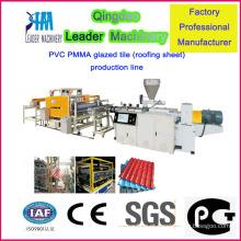 Máquina de produção de telha de plástico resistente à corrosão de venda quente