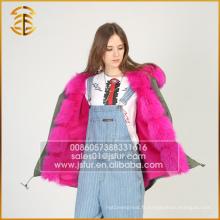 Style européen Mode Femmes Hiver Faux Lady Winter Fur Parka