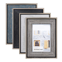 high quality custom 8x10 Rustic  Real Glass Tabletop and Wall Mounting Display Picture Frames for home decoration