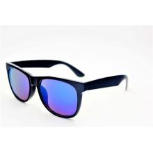 Clásico vintage brillante moda negro gafas de sol-16310