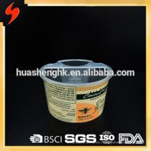 Taza de salsa de inmersión de plástico de 2 compartimentos de grado alimenticio certificada por la FDA 7oz / 210ml