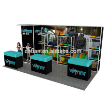 Detian Offer 10x20ft aluminium exposition stand used trade show booth