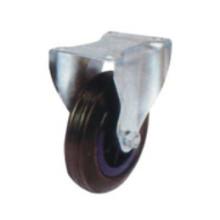 Roulette pivotante en caoutchouc noir industriel (FC501)