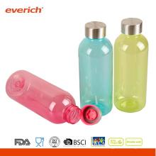 Seguro, a prueba de fugas seguro botellas de agua de plástico con imagen de bricolaje en el cuerpo