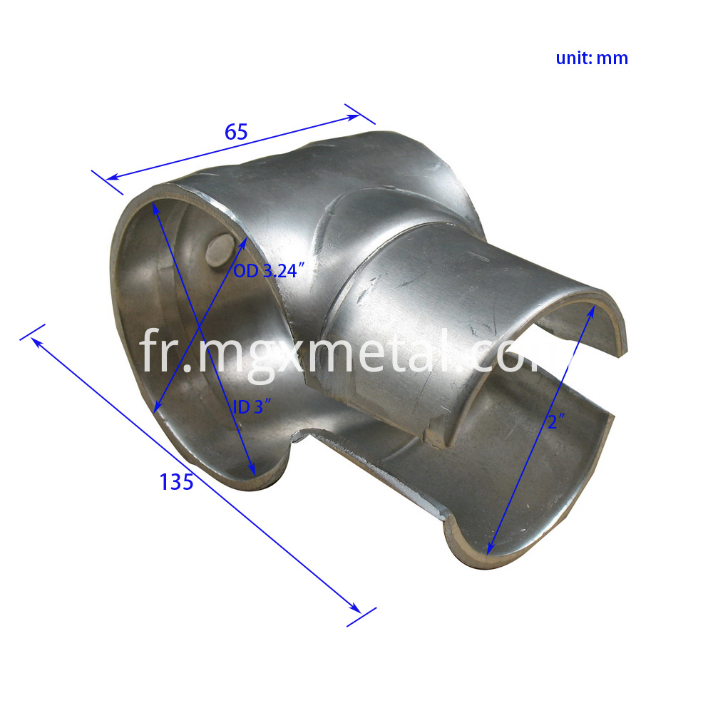 SCD0008 Consturction Pipe Joint Aluminium Bracket Size