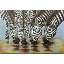 Pintura quente da zebra da arte da lona da venda