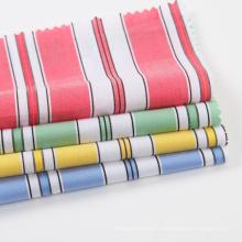 Tissu de chemise en coton teint en fil coloré pour femme