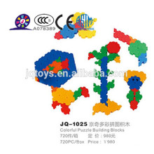 2015 nuevo bloque de construcción de puzzle colorido