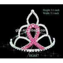 Diamant-Festzug Krone rosa Strass Logo Partei Tiara Krone Krone Brieftasche