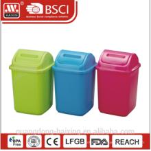 HaiXing Home Office Decor Cartoon Eco-friendly round plastic garbage bin 5L