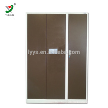 wholesale changing room Furniture modern strong metal Clothes Closet storage 3 Door Steel Wardrobe