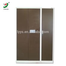 wholesale changing room Furniture modern strong metal Clothes Closet storage 3 Door Steel Wardrobe