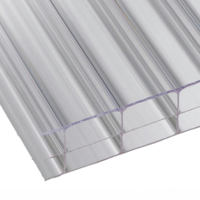 4mm 8mm clear plastic twinwall polycarbonate hollow pannel  polycarbonate agricultural greenhouse sheet for pavilion
