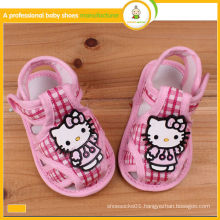 2015 new design hot sale hello kitty baby fabric sandals