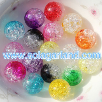 8-16MM Crystal Crack acryl kunststof ronde losse Spacer Beads