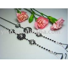 flower metal bra straps