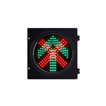 200mm 300mm RED cross green arrow LED Traffic Light with High Safety Coefficient