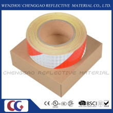 Rote und weiße PVC-Streifen Vorsicht reflektierendes Klebeband (C3500-S)
