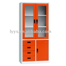 steel office filing cabinet with four drawers