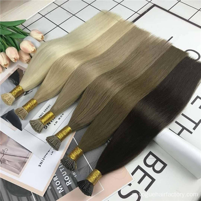 I Tip Keratin Hair Extension شعر الإنسان