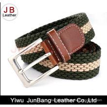 Ladies Pin Buckle Polyester Elastic Braid Belts