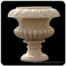 Stone craving pot garden granite flowerpot for landscaping