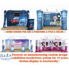 Design de stands para feiras comerciais e expositores para exposições de arte