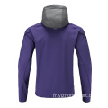 Hommes Soccer Wear Zip Up Hoodies Violet