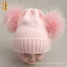 Sombreros de lana de los cabritos hechos a mano lindos al por mayor de los sombreros de las lanas
