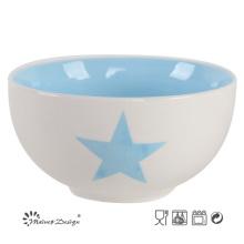 5.5 Inch Bright Color 2 Tone Glaze Bowl