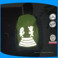 Capa de mochila reflexiva amarela flourescente com logotipos reflexivos personalizados