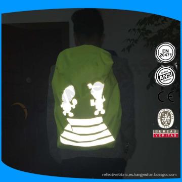 Alta visibilidad impermeable mochila mochila cubierta de lluvia