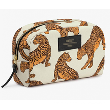 2020 Fashion Spanish Style High Quality Custom Printed Gold Leopard Pattern Waterproof Eco-Friendly Women Canvas Cosmetic Bag