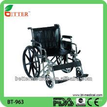 Cadeira de rodas de aço extra larga