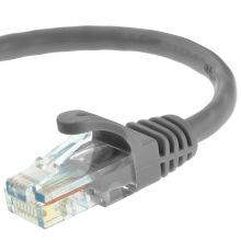 Cat5e UTP RJ45 cabo de cabo de patch Ethernet 15 pés cinza