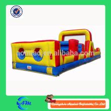 Melhor qualidade outdoor playground inflável obstáculo curso
