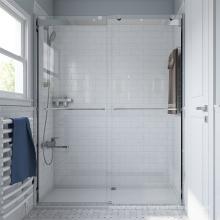 Seawin Over Shower Frameless Shower Door  Fittings Parts Black Glass Sliding Shower Doors