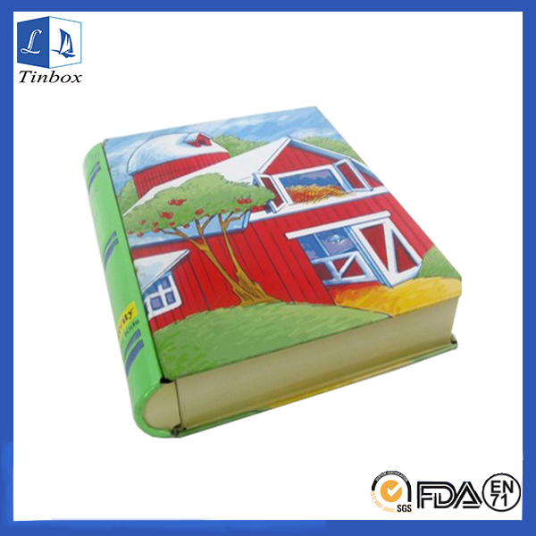 Rectangular Book Shape Gift Tin Box