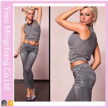 2016 Новый дизайн Горячие продажи Бесшовные жаккардовые джинсовые поножи