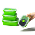 Venta al por mayor a prueba de fugas de silicona Lunch Box 4pack