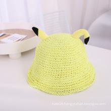 Funny Children Straw Hat Custom Cute Ear kids Hat