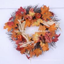 2016 Gourd Berry Floral Wreath Mixed Autumn Wreath