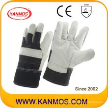 Белая мебель из натуральной кожи Промышленные рабочие перчатки безопасности для рук (310061)